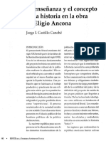 Ensenanza y El Concepto de Historia de Eligio Ancona