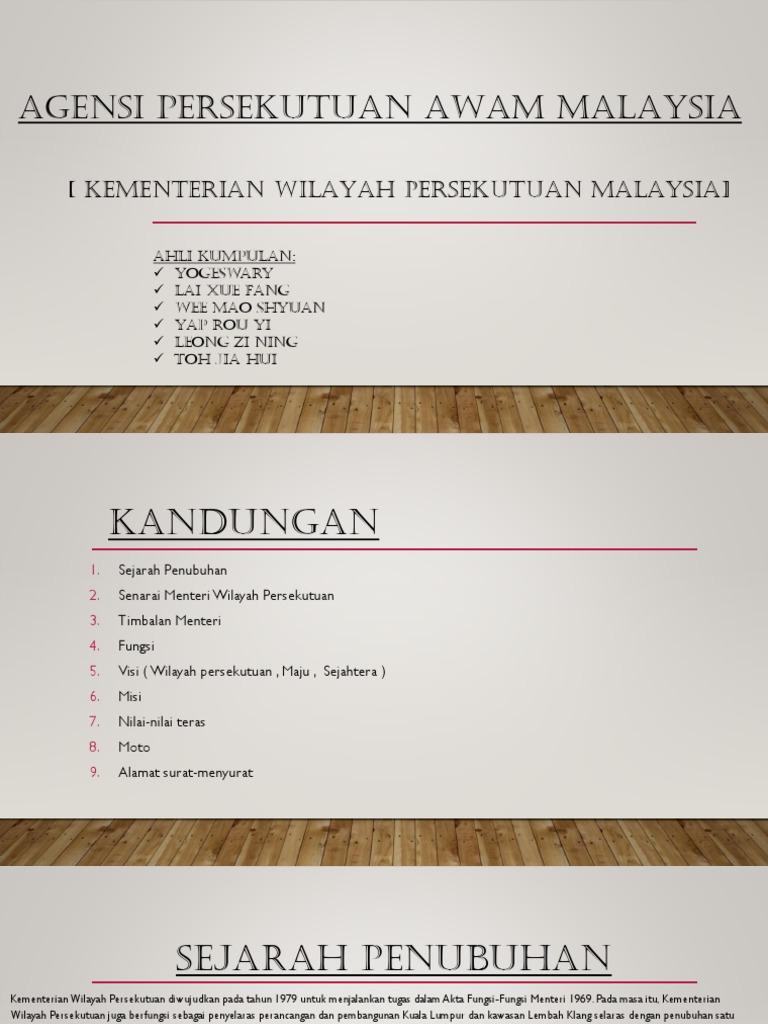 Agensi Persekutuan Awam Malaysia