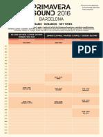 Primavera Sound Timetable