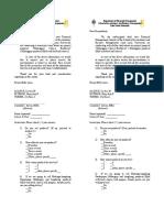 Feasibility Questionnaire