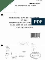 OIT; Reglamento - tipo de seguridad en los establecimientos industriales para guía de los gobiernos y la industria Ginebra, 1950..pdf