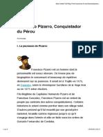 Francisco Pizarro, Conquistador du Pérou