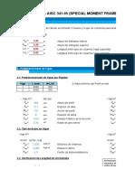 Diseño Pórtico SMF Comparativa ETABS AISC 341-05