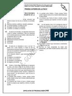 SIMULACRO CUARTO DE CATEDRA 8°