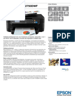 Impresora Epson Workforce Wf 2750dwf