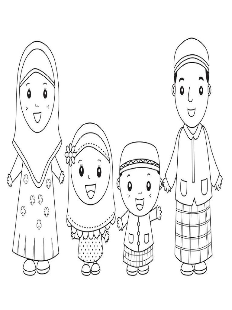 Mewarnai Gambar Muslimah