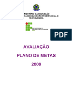 Avaliação do Plano de Metas 2009