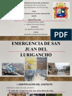 Emergencia de San Juan Del Lurigancho Grupo 8