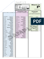 City of Toronto sample ballot