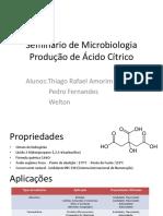 Produção de Ácido Cítrico