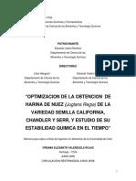 OPTIMIZACION DE LA OBTENCION  DE  HARINA DE NUEZ