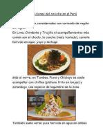 Guarniciones Del Ceviche en El Perú