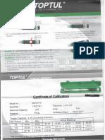 4501193842 - Certificado Llave Torque Cabeza Intercambiable 13 a 30mm Toptul- Fe45353