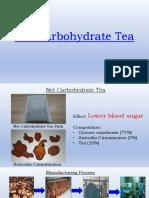net carbohydrate tea