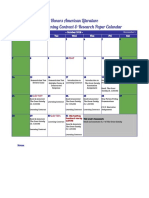 fall 2018 honors learning contract calendar