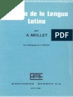 Meillet, A. - Una Historia de la lengua latina.pdf
