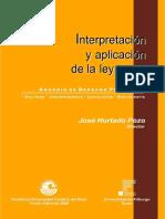 INTERPRETACIÓN DE LA LE Y PENAL ANUARIO DE DERECHO PENAL 2005