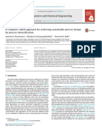 A Computer-Aided Approach for Achieving Sustainable Process Design by Process Intensification