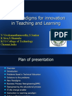 New Paradigms Teaching and Learning