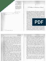 10 - HERSKOVITZ, Melville. O Problema Do Relativismo Cultural. in Antropologia Cultural, Tomo I. São Paulo Mestre Jou, 1963