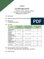 ACI 308 Main Fall 2018 Las Vegas Agenda