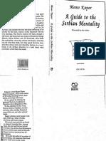 A Guide to the Serbian Mentality- Momo Kapor OCR