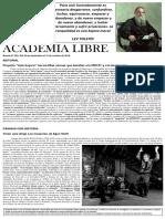 Academia Libre. Boletín N° 265. Del 29 de septiembre al 12 de octubre de 2018