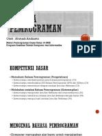 Presentasi Bahasa Pemrograman