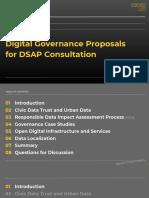 Sidewalk Toronto Digital Governance Proposals for DSAP Consultation