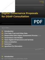 Sidewalk Toronto Digital Governance Proposals for DSAP Consultation