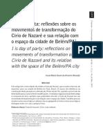 Almeida (2013) - É Dia de Festa. Reflexões Sobre Os Movimentos de Transformação Do Círio de Nazaré