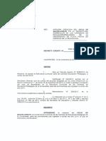 Decreto Exento Nº1124 (2017). Aprueba Creación CICLO  BACHILLERATO
