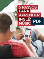 5 Passos Para Aprender Inglês Com Música Paulo Barros - Livro