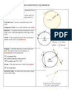 Circle Definitions and Theorems