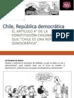 4º MEDIO Chile, República Democrática 2018