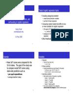 Notes 15 Logistic Regression Confidence Intervals