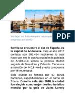 Ventajas Del Buzoneo Para Las Pequeñas Empresas en Sevilla