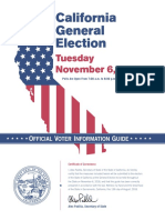 California 2018 Voter Information Guide