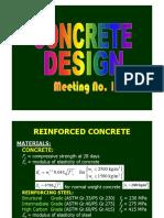 Concrete Design Part 1