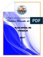 Plan Anual de Trabajo 2016 Iestp