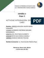 Actividad Integradora Español II e3