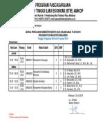 Jadwal Semester Genap 18-19 Kls k3c