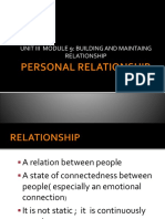 Personal Relationship ppt