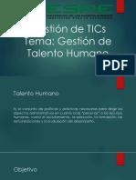Gestion de TICS-Talento Humano