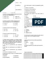 Examen Integral de Física Tercer Periodo Grado 9