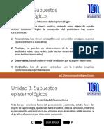 Unidad 3. Supuestos epistemológicos