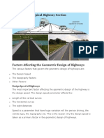 Factors Affecting the Geometric Design of Highways