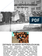 Sejarah Kependudukan Presentase by Muh Akbal