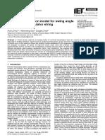 Zhou, Ruixu; Gao, Wensheng; Zhao, Dongbo -- Improved Calculation Model for Swing Angle of Suspensio