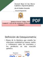Cálculos estequiométricos de las sustancias
